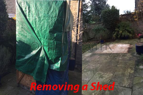 Removing a shed