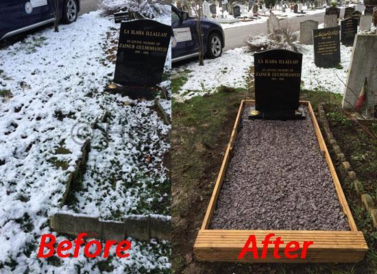 Restoring a grave