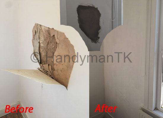 Fix damaged clay wall